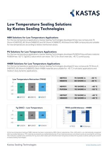 Low Temperature Sealing Solutions