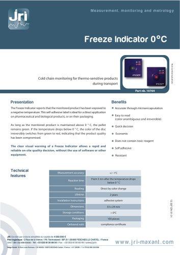 Freeze indicator