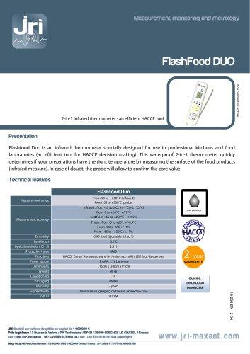 INFRARED PORTABLE INDICATOR FLASHFOOD DUO - HACCP