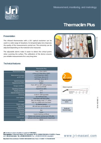 INFRARED THERMOMETER THERMACLIM PLUS