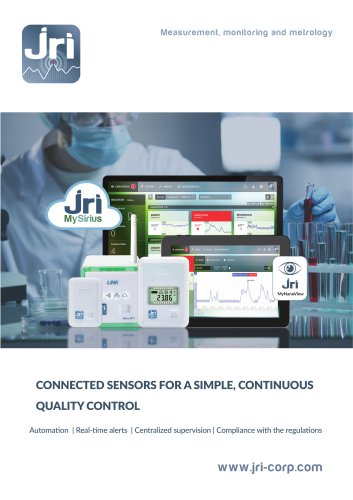 JRI MySirius : Connected sensors for a simple continuous quality control
