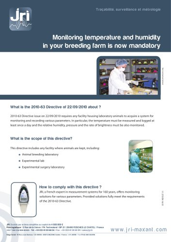 Monitoring temperature and humidity in your breeding farm is now mandatory