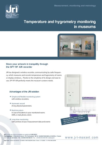 Monitoring temperature and hygrometry in museums
