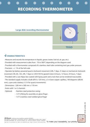 RECORDING THERMOMETER (TEGD)