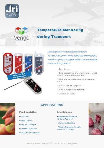 Temperature Monitoring during Transport