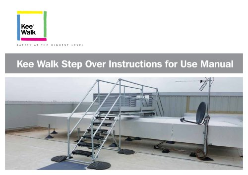 Kee Walk Step-Overs Instructions for Use Manual