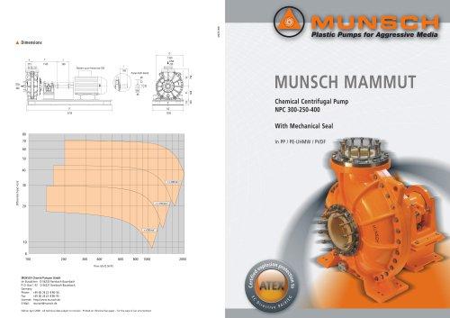 Chimical Centrifugal pump Mammut