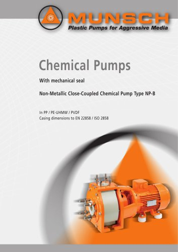 Non-Metallic Close-Coupled Chemical Pump Type NP-B