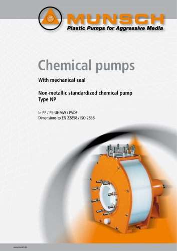 Non-metallic standardized chemical pump Type NP