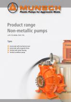 Product Range Non-Metallic Pumps