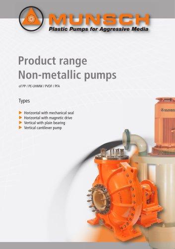 Product Range Non-Metallic Pumps