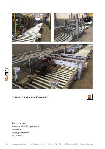Pallets conveyors