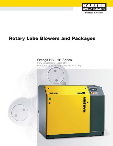 Rotary Lobe Blowers and Packages Catalog