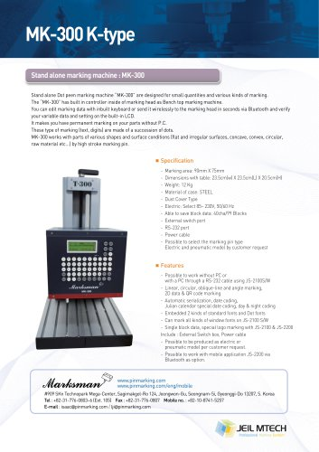MK-300K Bench top marking machine