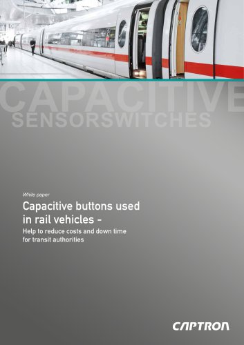 White paper - Capacitive buttons used in rail vehicles