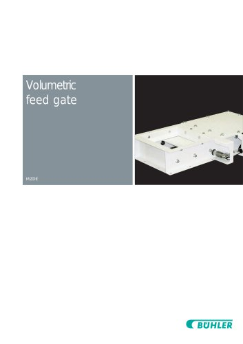 Volumetric Feed Gate MZDE