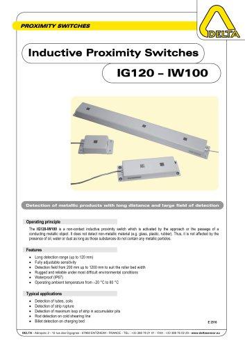 Inductive Proximity Switches IG120 - IW100