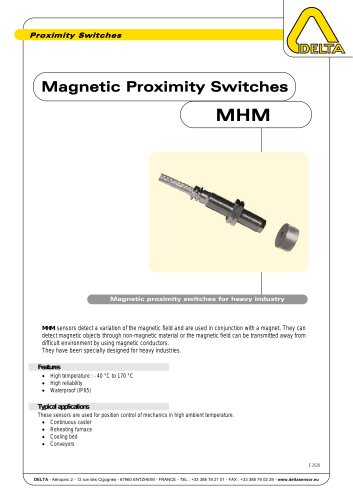 Magnetic Proximity Switches MHM