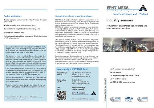 Industry sensors