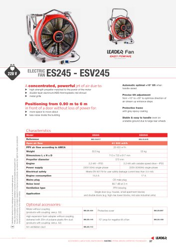 ELECTRIC  FAN ES245 - ESV245