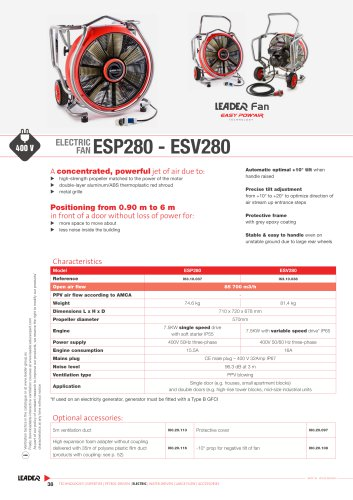 ELECTRIC  FAN ESP280 - ESV280