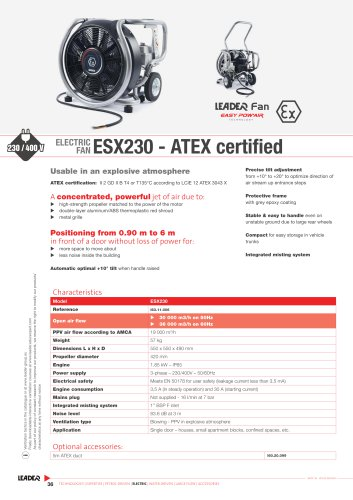 ELECTRIC  FAN ESX230 - ATEX certified