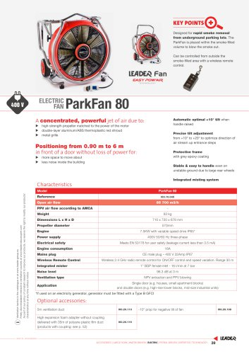 ELECTRIC  FAN ParkFan 80