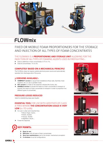 FLOWmix double kit version - Automatic foam proportioning system