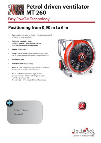 MT260 EASY pow'air : Thermal fan, 71,800 m3/h