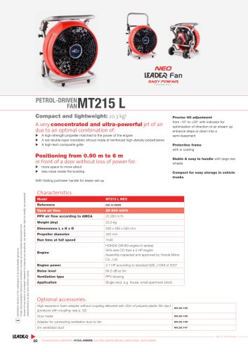 PETROL-DRIVEN  FAN MT215 L