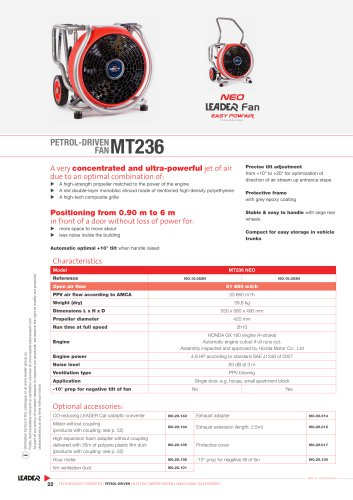 PETROL-DRIVEN FAN MT236