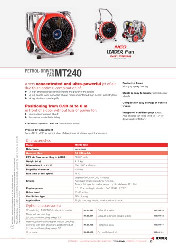 PETROL-DRIVEN FAN MT240