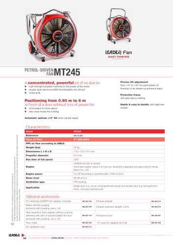 Petrol-driven fan MT245