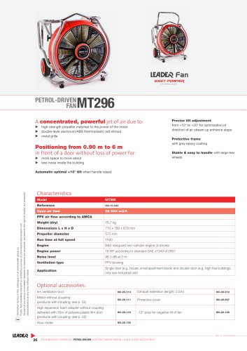 PETROL-DRIVEN  FAN MT296