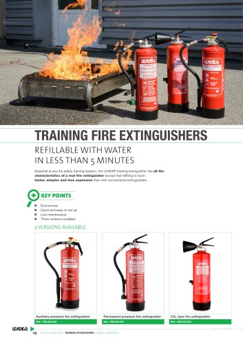 TRAINING FIRE EXTINGUISHERS