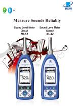 NL-52 and NL-42 sound level meters