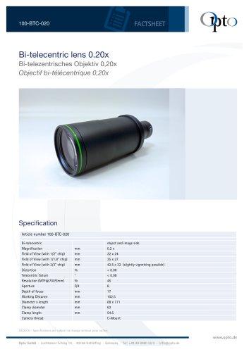 Bi-telecentric Lens 0.20x
