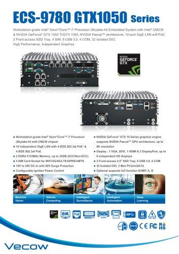 ECS-9780 GTX1050 - Vecow Co , Ltd  - PDF Catalogs