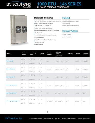 1000 BTU Thermoelectric Air Conditioner