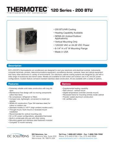 200 BTU Thermoelectric Air Conditioner