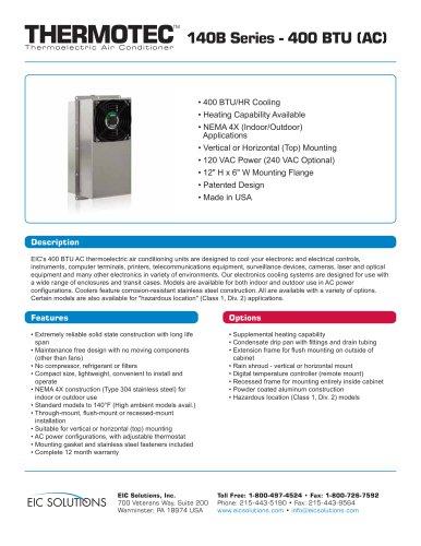 400 BTU (AC) Thermoelectric Air Conditioner