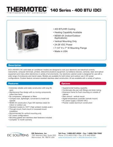400 BTU (DC) Thermoelectric Air Conditioner
