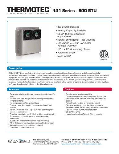 800 BTU Thermoelectric Air Conditioner