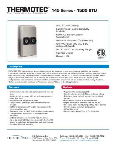 thermotech 145 Series - 1500 BTU