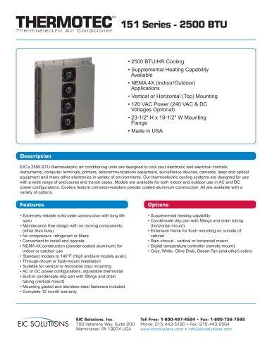 thermotech 151 Series - 2500 BTU