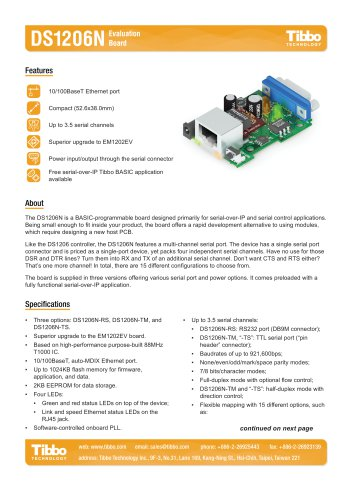 DS1206N BASIC-Programmable Board