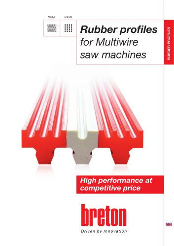 Rubber profiles for multiwire saw machines