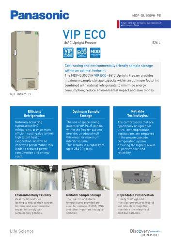 -86°C VIP ECO Ultra-Low Freezers MDF-DU500VH-PE