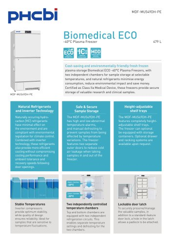 Biomedical ECO -40°C Plasma Freezers