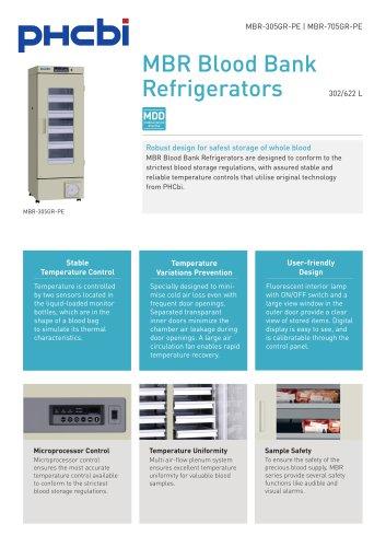 BR-305GR-PE & MBR-705GR-PE Blood Bank Refrigerator